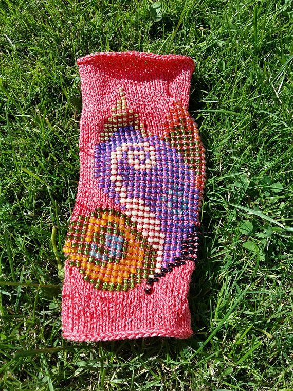 Knitted bracelet beaded bracelet wrap hider knitted