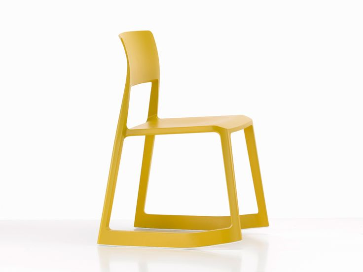 Yellow Rocking Plastic Chair TIP TON by @Vitra Furniture | Design Edward Barber, Jay Osgerby (2011)