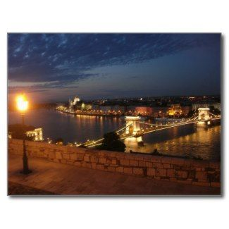 Enchanted Evening in Budapest Postcards