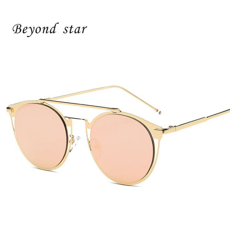 Beyond Star Fashion Women Round Lenses Sunglasses Metal Frame Sunglasses Pink For Girls Glasses Luxurious Outdoor Sunglasses