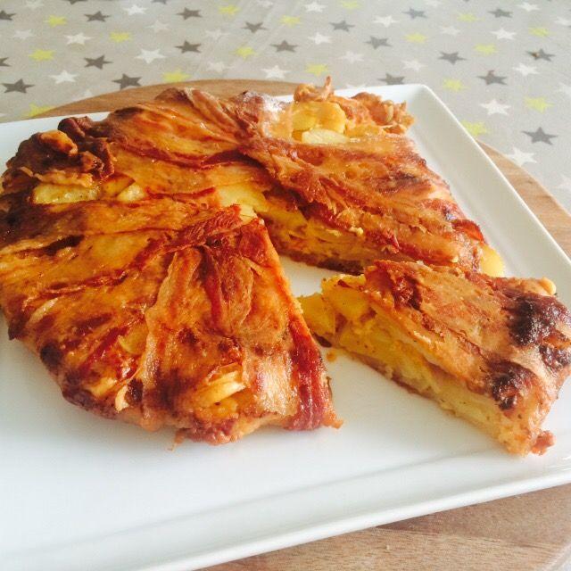Bacon-kartoffel tærte med cheddar