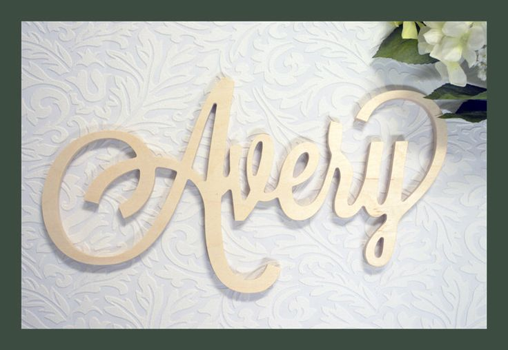 Custom Wooden Name Sign - Personalized Name Plaque - Door Hanger name - Nursery decor - Small Name Plates - Nursery wall Art by MiaPreciousMemories on Etsy https://www.etsy.com/listing/238799271/custom-wooden-name-sign-personalized
