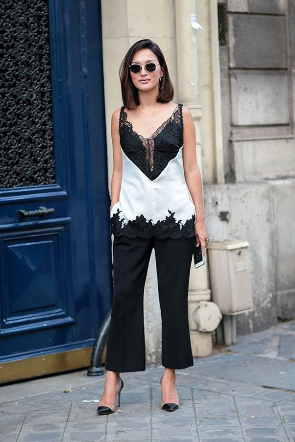 Lingerie And Loungewear Looks In Street Style. Couture AW16 Paris