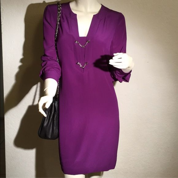 100% Authentic guaranteed Gucci Dress 100% Authentic Gucci Silk Crepe Dress. Bright Violet 362040 ZCS03 5373. Made in Italy Size 40. Brand new with tag. Gucci Dresses Mini