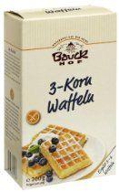 Bauckhof 3-Korn-Waffeln, glutenfrei, 3er Pack (3 x 200 g) - Bio