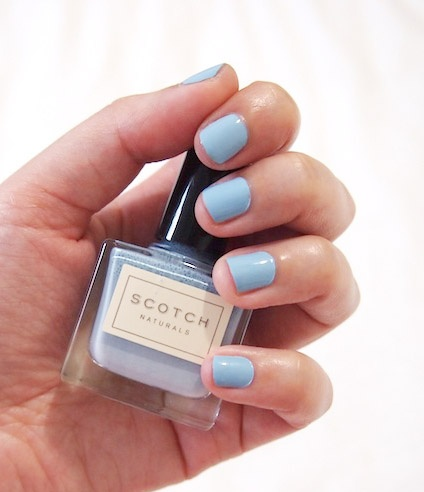 Scotch polish - Caleigh baby blue ...i cannot find pastel blue nail