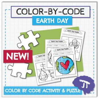Introduce your students to Earth Day with this fun COLOR BY CODE activity! This activity is a great way to start an Earth Day celebration! After your students follow the color code, they can cut out the pieces to make a puzzle! These activities also work great as a bulletin board display and Earth Day decorations for the room!Did you know that plastics are sorted by different recycling numbers?