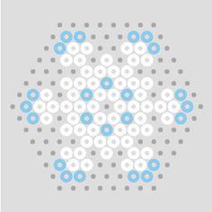 Pastel Hama Bead Snowflake Patterns   BeadMerrily Hama Bead Designs