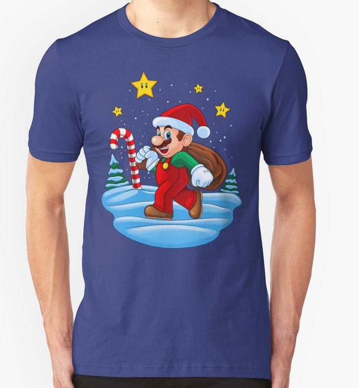 """Mario Xmas"" T-Shirts & Hoodies by Remus Brailoiu | http://www.redbubble.com/people/remuscb/works/23996297-mario-xmas?asc=u&p=t-shirt&rel=carousel&style=mens | super mario, santa claus, xmas, christmas | #mario #mariobros #supermario #supermariobros #marioworld #xmas #santaclaus #christmas #gaming #tshirtdesign #graphicdesign"