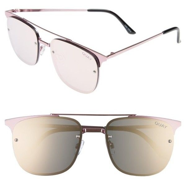 Women's Quay Australia Private Eyes 55Mm Aviator Sunglasses (799.260 IDR) ❤ liked on Polyvore featuring accessories, eyewear, sunglasses, quay sunglasses and quay eyewear