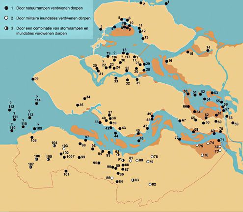 Geschiedenis Zeeland: verdronken dorpen