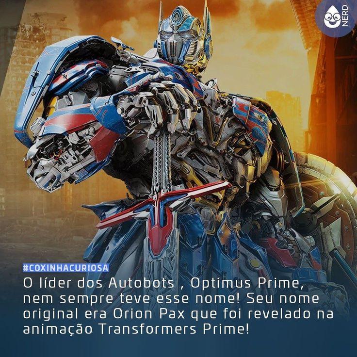 #CoxinhaCuriosa Ia morrer sem saber disso!  #TimelineAcessivel #PraCegoVer  Imagem do transformer Optimus Prime e a curiosidade: O líder dos Autobots  Optimus Prime nem sempre teve esse nome! Seu nome original era Orion Pax que foi revelado na animação Transformers Prime!  TAGS: #coxinhanerd #nerd #geek #geekstuff #geekart #nerd #nerdquote #geekquote #curiosidadesnerds #curiosidadesgeeks #coxinhanerd #coxinhafilmes #filmes #movies #Cinema #euamocinema #adorocinema #transformers #autobots…