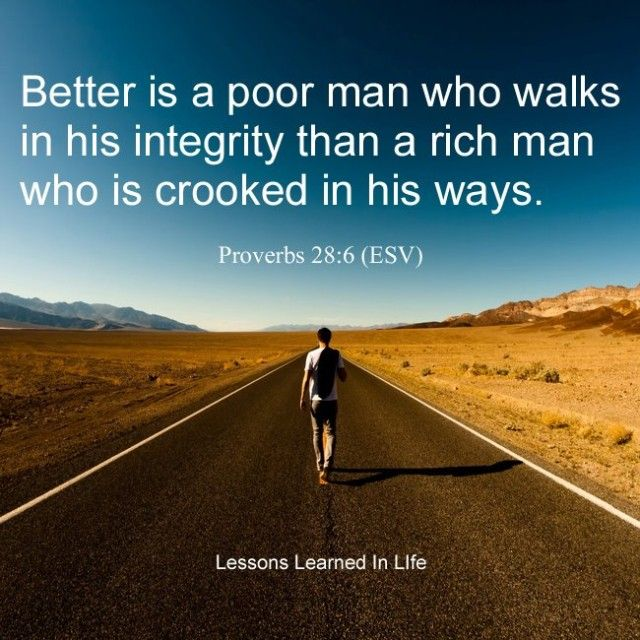 Lessons Learned in Life   Proverb 28:6