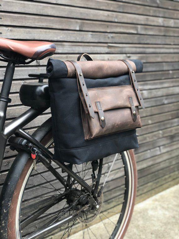 Motorrad Tasche In Gewachstem Canvas Leder Motorradtasche Saddle