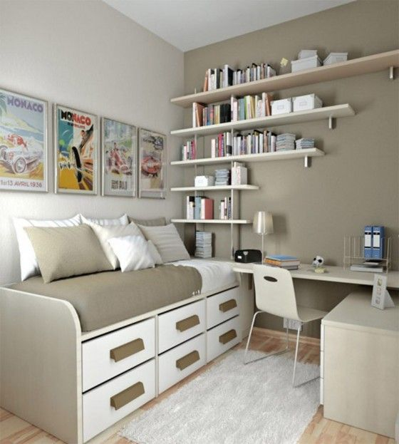 warm brown theme small room design