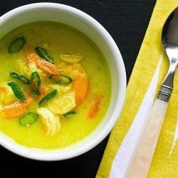 Easy Coconut Soup with Shrimp - A quick alternative to Tom Ka Gai