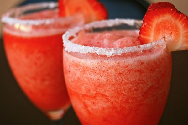 10. Strawberry Coconut Daiquiri - 10 Fruity Alcoholic Drink Recipes to Try ... | All Women Stalk