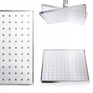 200mm Square Thermostatic Concealed Valve with Rigid Riser Kit [PT-SS1WCSQ01] - £149.99 : Platinum Taps & Bathrooms