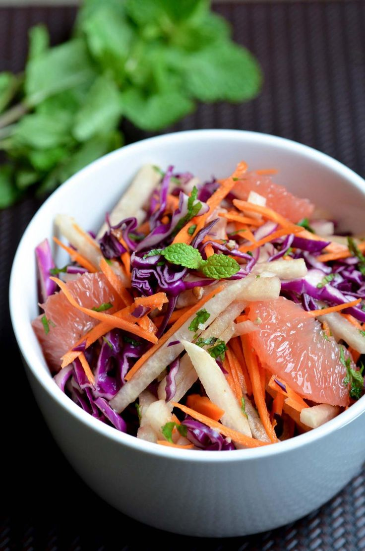 Jicama and Grapefruit Salad with Sweet Soy Dressing from the Vegetable Butcher