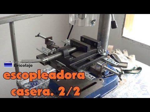 Cómo hacer una escopleadora casera usando un taladro de columna o soporte para taladro. 2/2 - YouTube
