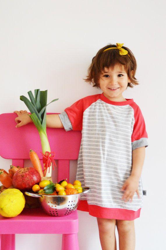 T shirt Dress for Girl in cottontops for by sunflowerdesign4kids