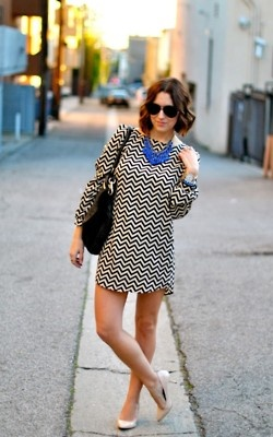 chic, graphic pattern dress
