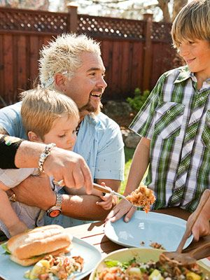 Guy Fieri's Backyard Barbecue Recipes - From grilled gaucho steaks to tequila lime tart, this Food Network star puts a sizzling spin on family summer favorites, by 'Family Circle'.