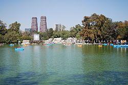 Chapultepec -Lago en la Primera Sección del Bosque de Chapultepec.