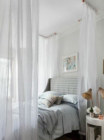 A boho canopy bed DIY you can do yourself