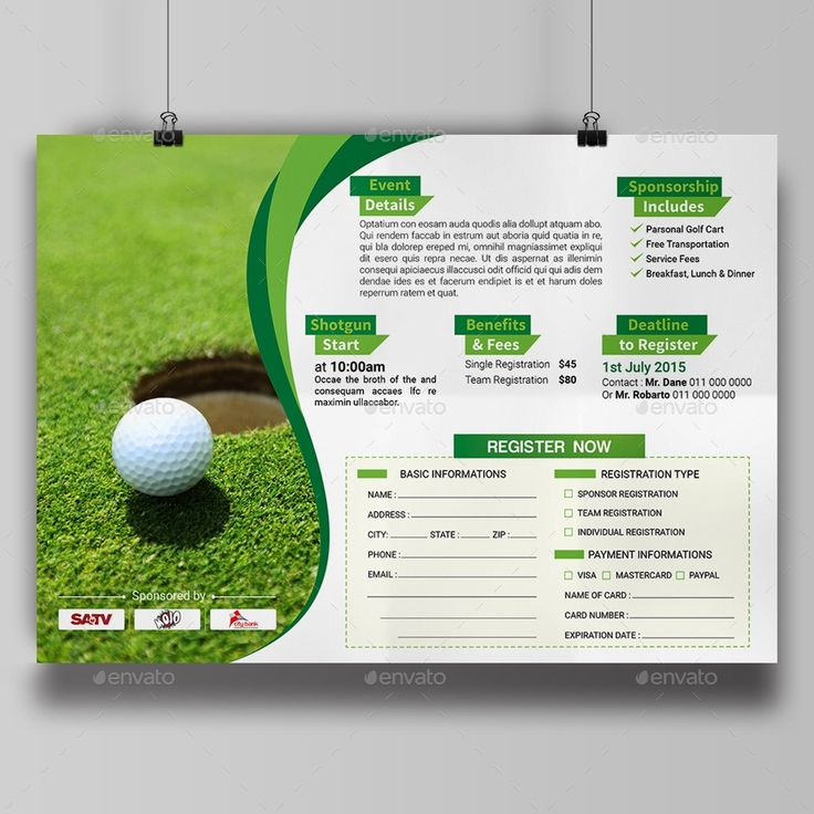 Golf Tournament Flyer Template By Aam360 Graphicriver With