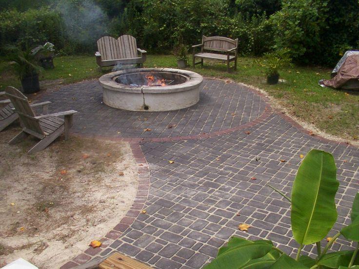 109 best firepit_pavers images on pinterest | mosaic art, mosaic ... - Brick Patios Ideas