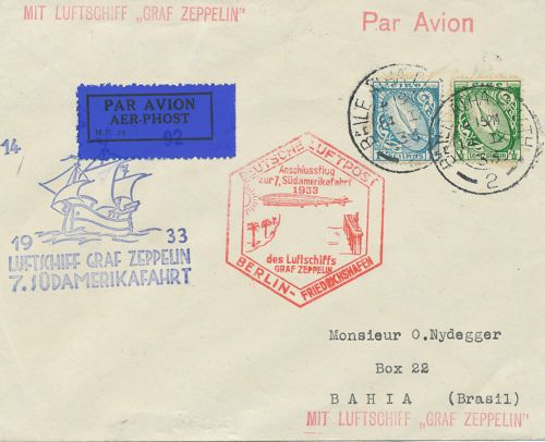 7th #Zeppelin flight to south america #psotalhistory #philately #stamps