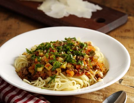 Billede af Pasta med kødsauce