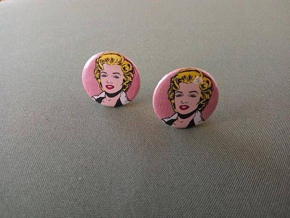 Marilyn Monroe clip on earrings!    #popart #jewelry #fashionitems #earrings #marilynmonroe
