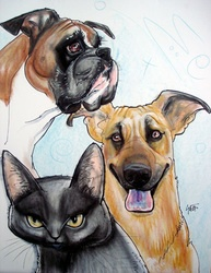 pet caricature portrait by John LaFree