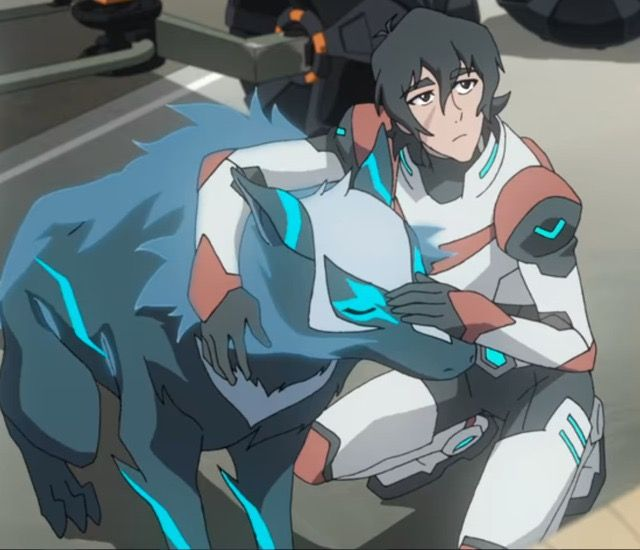 Keith and his Space Wolf, Kosmo from Voltron Legendary