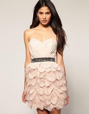ruffle bustier dress