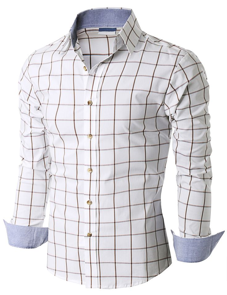 $19.99 Doublju Mens Long Sleeve Check Print Shirts (KMTSTL0183)&url=http://www.doublju.com/doublju-mens-long-sleeve-check-print-shirts-kmtstl0183