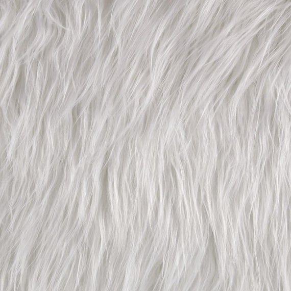 Shannon Faux Fur Gorilla White Fabric 0412471 In 2020 Faux Fur White Fabric Texture Fur Carpet