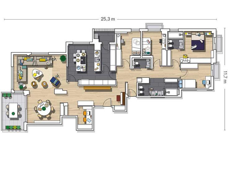 94 best casas images on Pinterest House design, Architecture and - plan maison plain pied 80m2