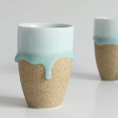 shop with chinese ceramics. 雅集堂 手工绝美 青釉陶艺杯随手杯青瓷杯子 幸福泪滴 单个价