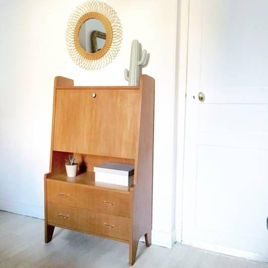 les 25 meilleures id es de la cat gorie secretaire vintage sur pinterest secr taire meubles. Black Bedroom Furniture Sets. Home Design Ideas