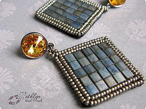 Pattern bijoux: Orecchini Night city under the sun