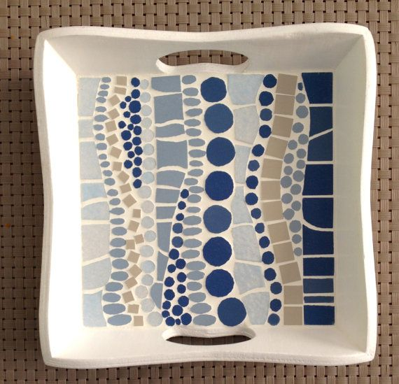 Mosaic tray by LesMosaiquesDeParis on Etsy