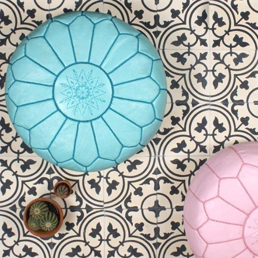 Bohemia : : Handmade Leather Pouffes, Marrakech, Morocco