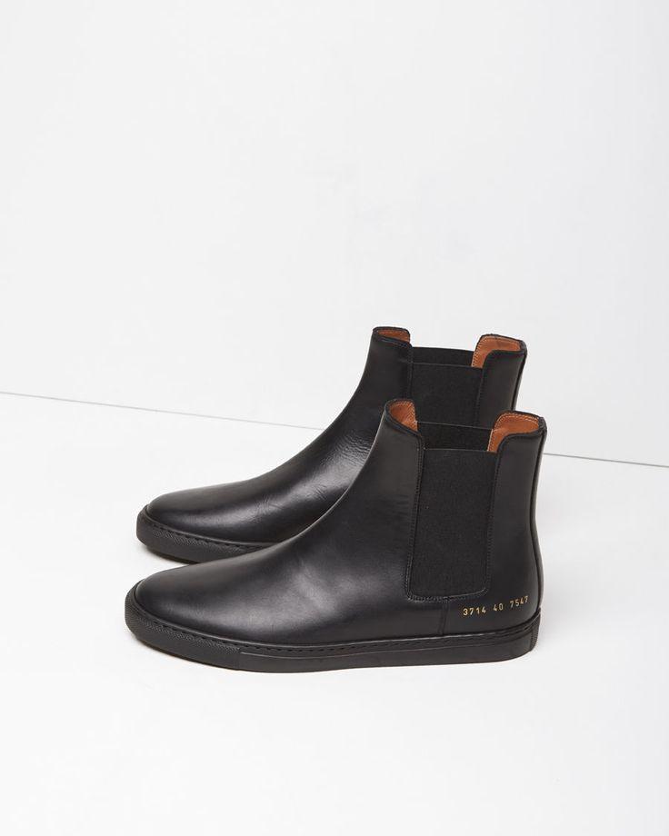 Cross-grain Leather Chelsea Boots - BlackCommon Projects qR7iVt