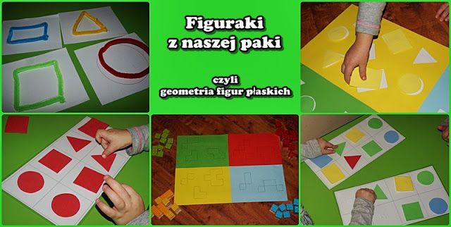 Figuraki z naszej paki czyli geometria figur płaskich z 2-3 latkiem | Kreatywnie w domu