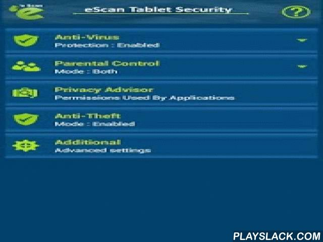 EScan - Tablet Antivirus  Android App - playslack.com ,  eScan Tablet Antivirus and Security for Android secures your tablet and confidential data stored in it against evolving cyber threats. eScan Antivirus for Tablet will be fully functional for 30 days and after that On Demand Scan will be available for Free.App Features: ✔ Anti-Theft: Allows data wiping, device blocking, locating the device using Google Maps. 'Scream' feature allows you to remotely sound the alarm to help you find your…