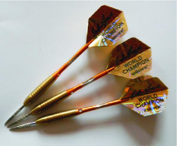 John Lowe Tungsten Titanium Golden Darts - as used by John., £44.00