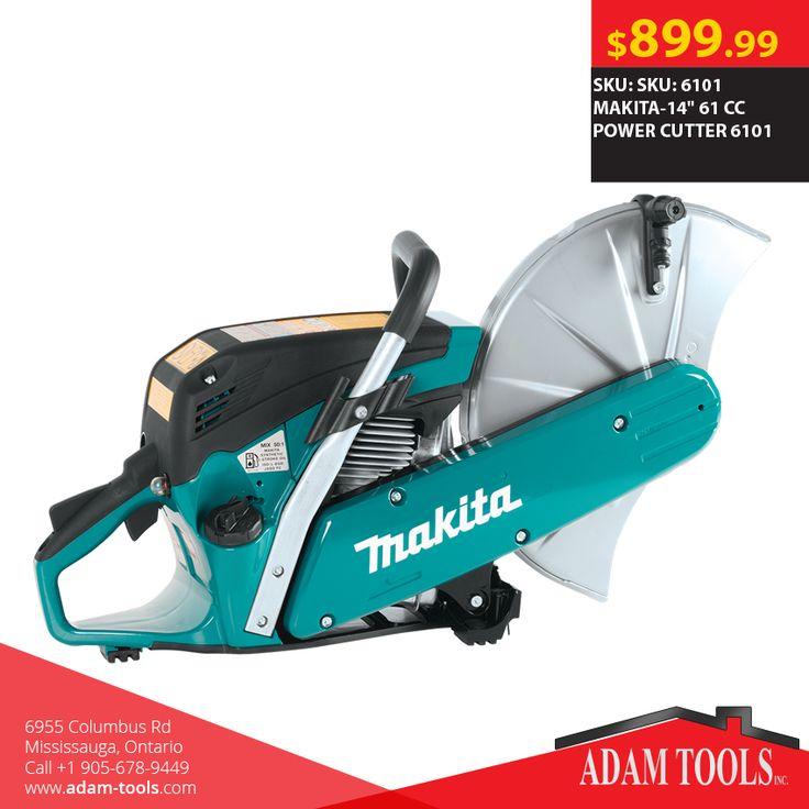 "Get the MAKITA-14"" 61 CC POWER CUTTER 6101 for just $899.99  #DealOfTheDay Order online: http://www.adam-tools.com/makita-14-61-cc-power-cutter-6101.html #canada #mississuaga #power_tools #building_supplies #adamtools #shop_online #buy_online #MakitaTool #Powertools #tools #Makita #Powercutter"